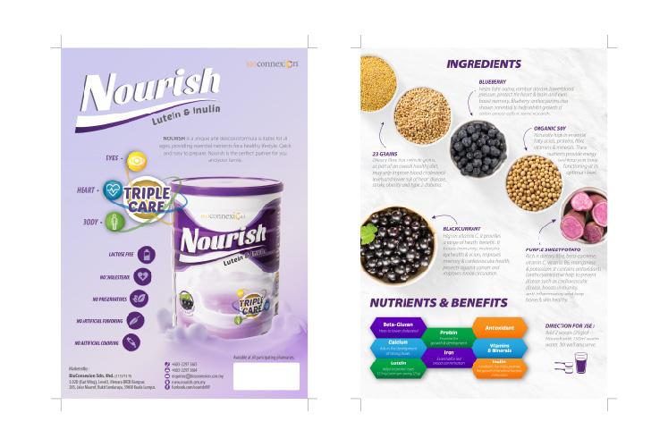 Nourish Leaflet Design